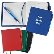 Leatherette Notebook And Pen Combo - Personalization Available