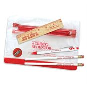6-Piece Pencil Pouch School Vinyl Kit - Personalization Available