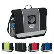 "14 1/2"" x 12 3/4"" x 3 1/2"" Messenger Bag - Personalization Available"