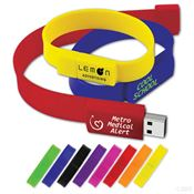 USB 2.0 Wristband Drive 8GB - Personalization Available