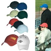 6-Panel Structured Cotton Cap With Sandwich Visor - Personalization Available