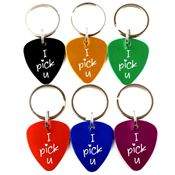 Guitar Pick Key Chain - Personalization Available