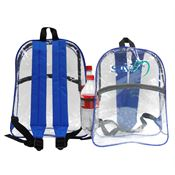 Clear Zipper Backpack - Personalization Available