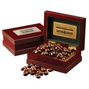 Executive Wood Box with Snacks - Personalization Available