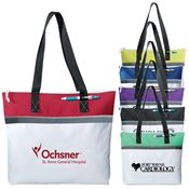 Marina Convention Tote With Black Shoulder Straps & Zip Top Closure - Personalization Available