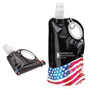 Patriotic 25-Oz. Collapsible PE Water Bottle - Personalization Available