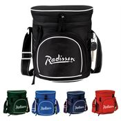 Double Compartment Cooler With Large Mesh Pocket On Both Sides - Personalization Available