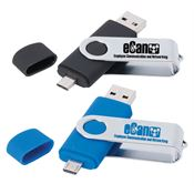 OTG 4GB Swivel USB Flash Drive - Personalization Available