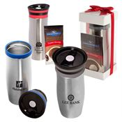 Click 'N' Sip Gleam Tumbler & Ghirardelli® Cocoa Set 13-oz. - Personalization Available