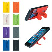 Silicone Phone Wallet With Stand - Personalization Available