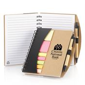 Mini Journal With Pen, Flags, & Sticky Notes - Personalization Available