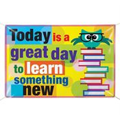 Today Is A Great Day To Learn Something New 5' x 3' Vinyl School Banner