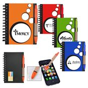 Mini Spotlight Notebook and Stylus Pen With Sticky Notes - Personalization Available