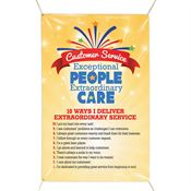 Customer Service Exceptional People Extraordinary Care - 4' x 6' Vinyl Banner