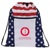 Patriotic Drawstring Backpack - Personalization Available