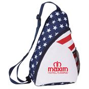 Patriotic Sling Backpack - Personalization Available