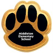 Paw Print Reflective Sticker - Small - Personalization Available