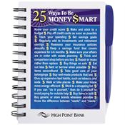 25 Ways To Be Money Smart Bic® Chipboard Color Notebook - Personalization Available