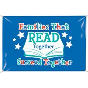 Families That Read Together Succeed Together Banner
