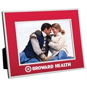 "4"" x 6"" Chrome Border Picture Frame - Personalization Available"