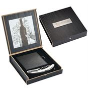 Belgio Coasters And Wine Opener Set - Personalization Available