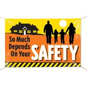 So Much Depends On Your Safety 6' x 4' Indoor/Outdoor Vinyl Banner