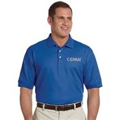 Devon & Jones® Men's Pima Pique Short-Sleeve Polo - Embroidery Personalization Available