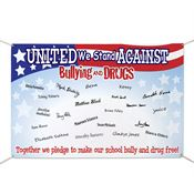 United We Stand Against Bullying And Drugs Pledge Banner