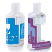 2-oz. Lotion Duo Bottle with SPF-15 Lip Balm - Personalization Available