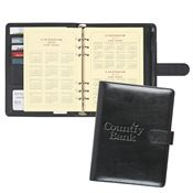 Leather Look Personal Notebook With Calendar - Personalization Available