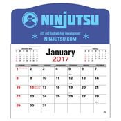 Press-N-Stick™ Jumbo 3-Month Calendar - Personalization Available