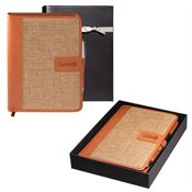 Sierra™ Journal Notebook & Tuscany™ Executive Pen Gift Set - Personalization Available