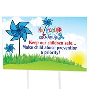Keep Our Children Safe... Make Child Abuse Prevention A Priority Yard Sign