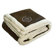 Sherpa-Lined Rustic Ranch Throw - Personalization Available
