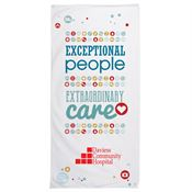 Exceptional People, Extraordinary Care Beach Towel - Personalization Available