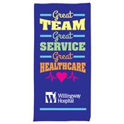 Great Team, Great Service, Great Healthcare Beach Towel - Personalization Available