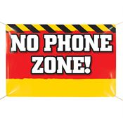 No Phone Zone 6' x 4' Indoor/Outdoor Vinyl Safety Banner