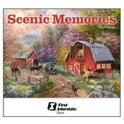 2019 Scenic Memories Wall Calendar - Stapled - Personalization Available