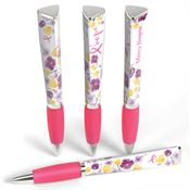 Breast Cancer Awareness Hope Floral Three-Sided Ad Pen