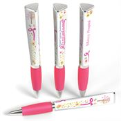 Breast Cancer Awareness: It's Not Just A Month 3-Sided Awareness Pen with Personalization