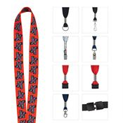 "1"" Fine Print Lanyard - Personalization Available"