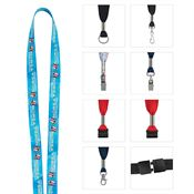 "1/2"" Fine Print Lanyard - Personalization Available"