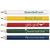 Round Wooden Golf Pencil - Personalization Available