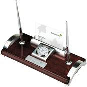 Clock/Card Holder And Pen Stand - Personalization Available