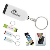 Phone Holder/Screen Cleaner Keychain - Personalization Available