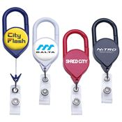 Jumbo Carabiner Retractable Badge Reel - Personalization Available
