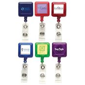 Square Retractable Badge Reel - Personalization Available