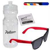 Matte Sunglasses & Lens Cleaning Wipe in a Sports Bottle - Personalization Available