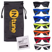 Matte Sunglasses & Lens Cleaning Wipe In A Pouch - Personalization Available