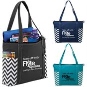 Geometric Zippered Business Tote - Personalization Available